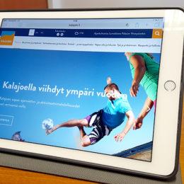 Kalajoen kaupungin nettisivut skaalautuvat eri laitteille.