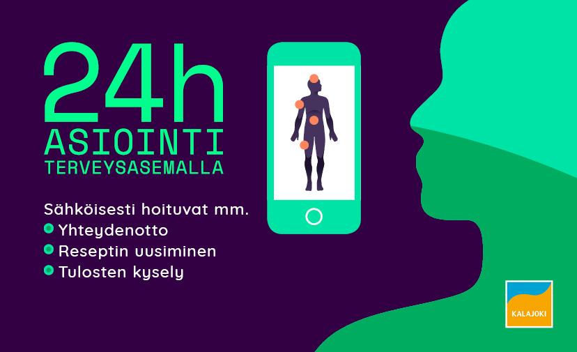 24 h asionti jonka kautta hoituu yhteydenotto, reseptin uusiminen ja tulosten kysely