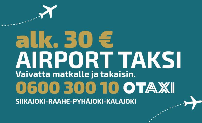 Airport taksi alkaen 30 €