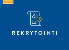 Rekrytointi-banneri Kalajoki-logolla